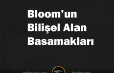 Bloom'un bilişel alan basamakları nelerdir?